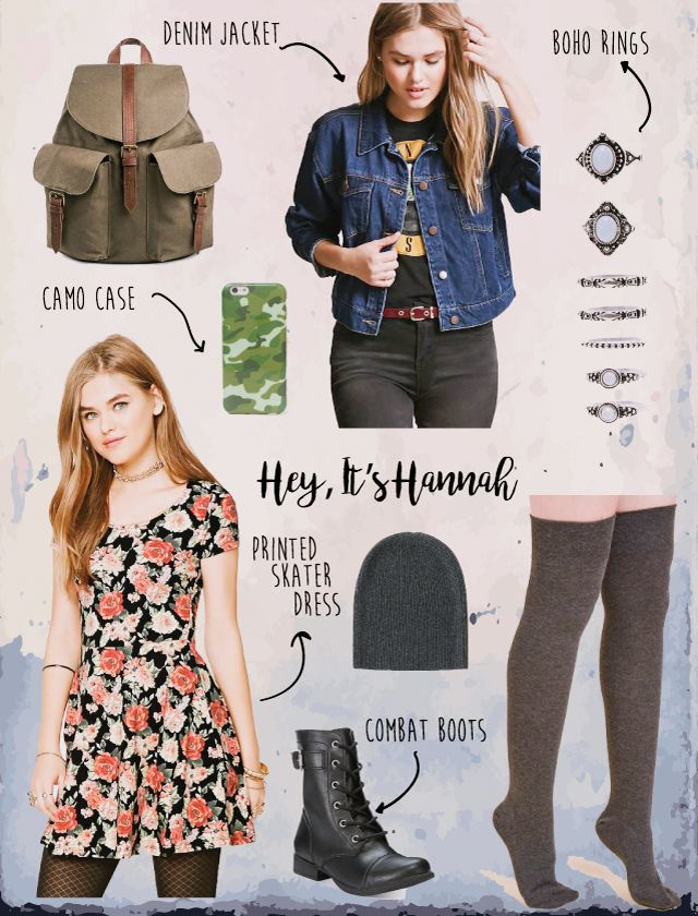 Wildfire Charm: Fashion Inspiration from Hannah Baker, 13 reasons why, netflix, Katherine Langford style