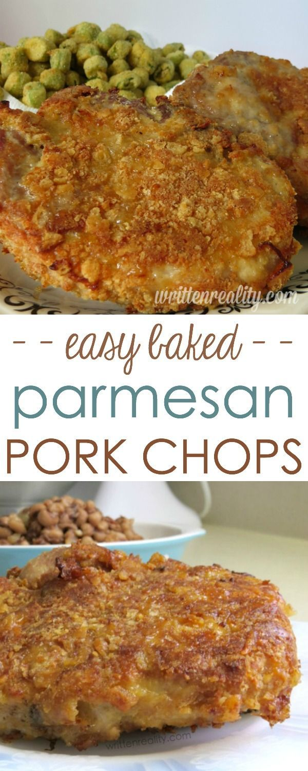 Baked Parmesan Crusted Pork Chops : Serve these parmesan crusted pork chops to your family for dinner. You'd never know they're baked and not fried! It's our all-time comfort food favorite my boys ask for over and over again.