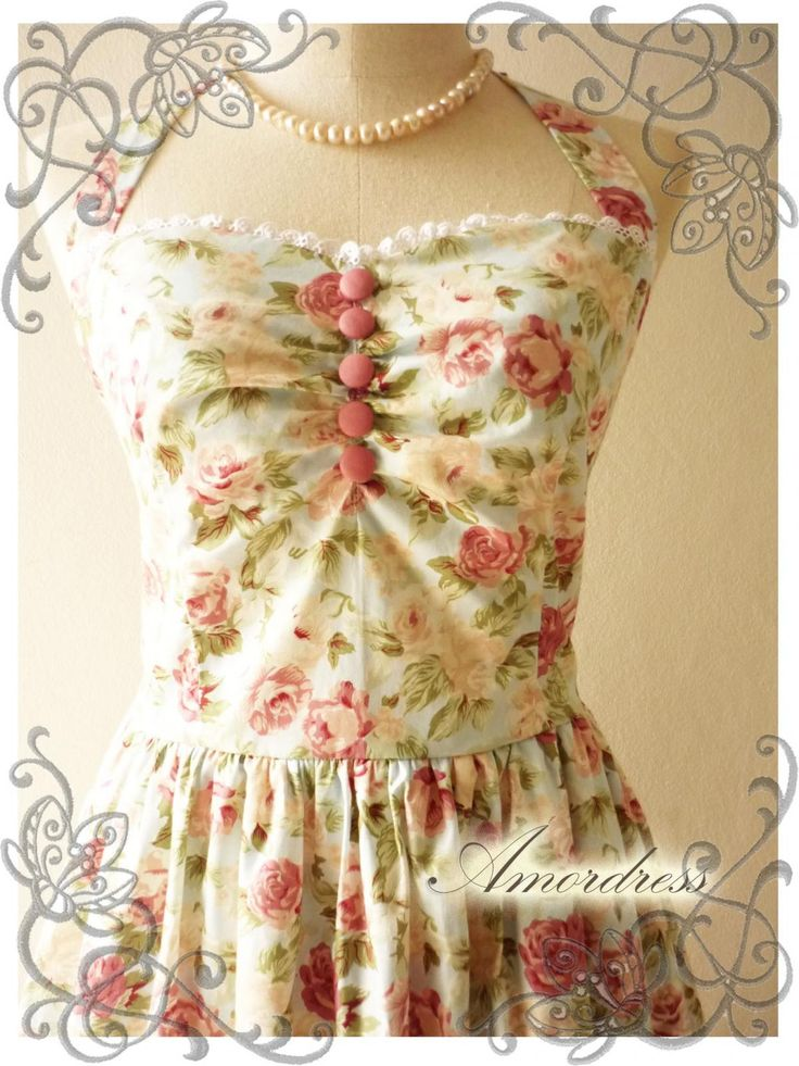 Vintage Inspired Dress Party Bridesmaid Holiday Summer Dress..SIZE S..Once Upon A Time Winter Romance Powder Blue Pink Rose Dress -SIZE S- #dresses