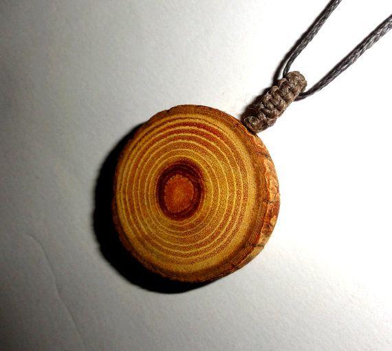 Precious wood natural wooden pendant Maclura Pomifera. by NayasArt