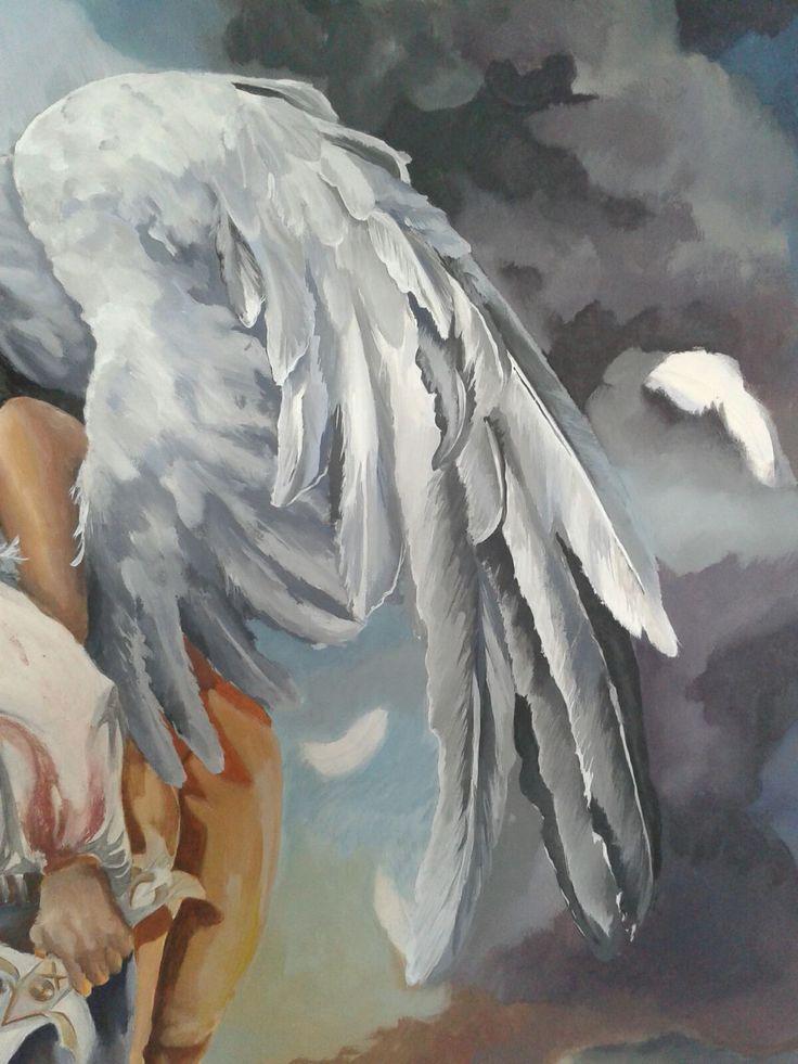 aus #Jadana wird #herana weil jan #heArt zum hero wird  'flügel #wings #sky #himmel #engel #angel #acryloncanvas by #danaiden