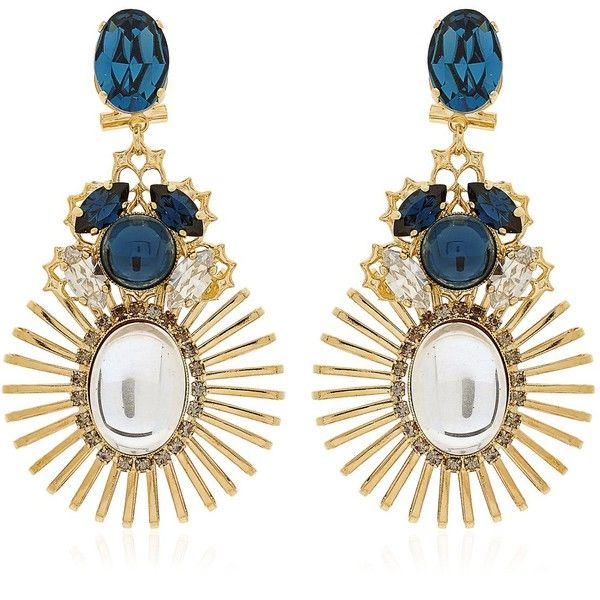 ANTON HEUNIS Bollywood Princess Collection Earrings (€245) ❤ liked on Polyvore featuring jewelry, earrings, accessories, aros, schmuck, swarovski crystal earrings, anton heunis, anton heunis jewelry, swarovski crystal jewelry and anton heunis earrings