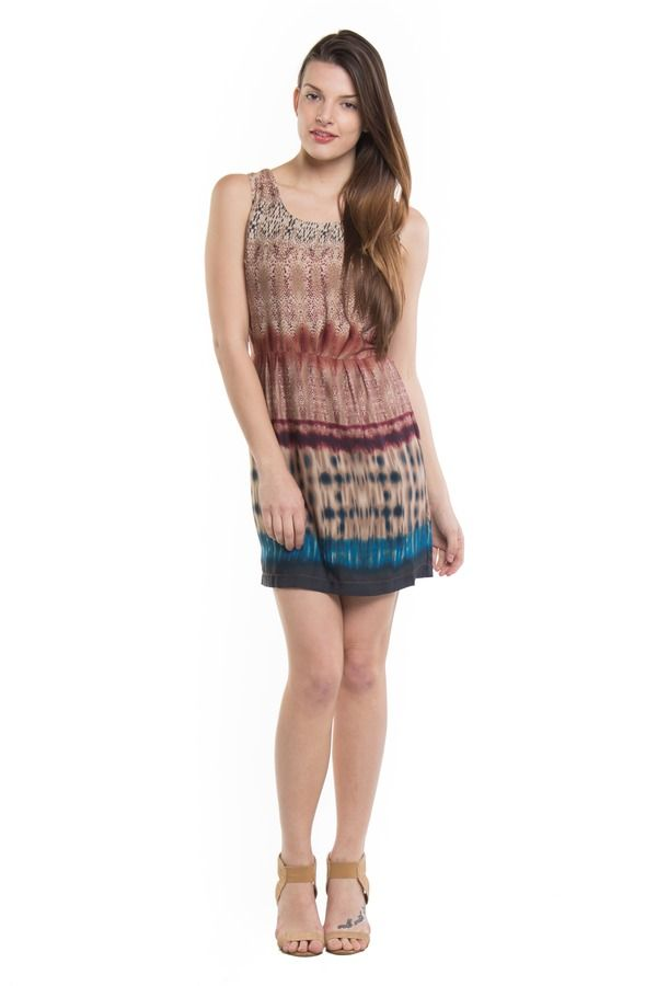 Multi Color Batik Dress