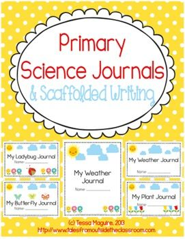 Primary Science Journals and scaffolded writing