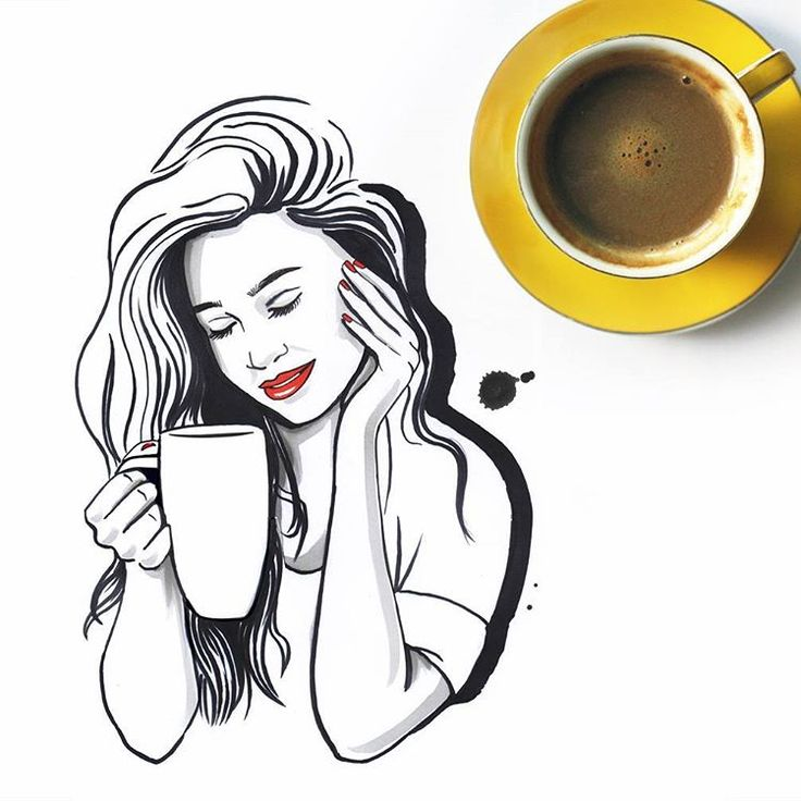 #coffee #illustration #kawa
