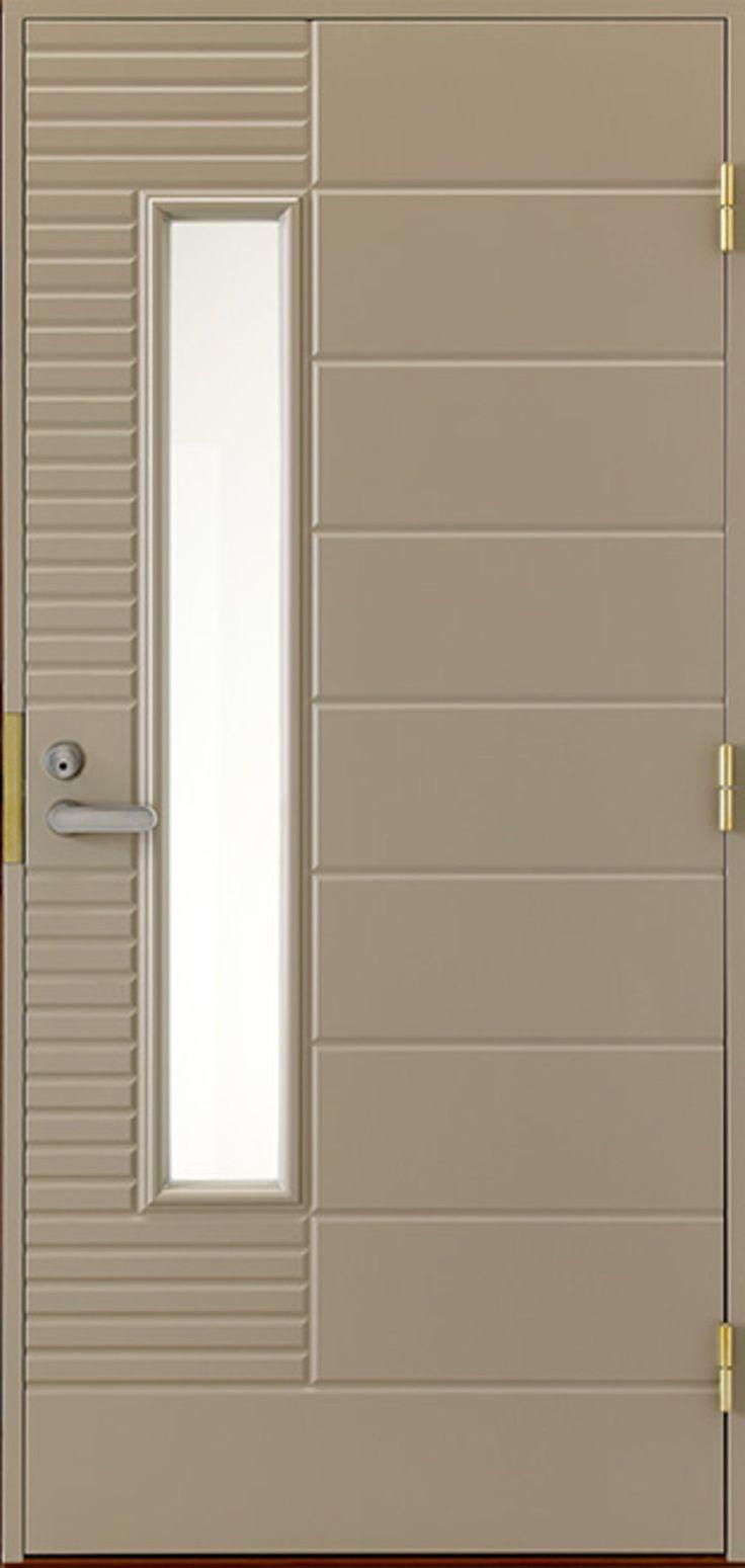 Etuovi lukemattomilla värivalinnoilla. - A front door with endless color variety.
