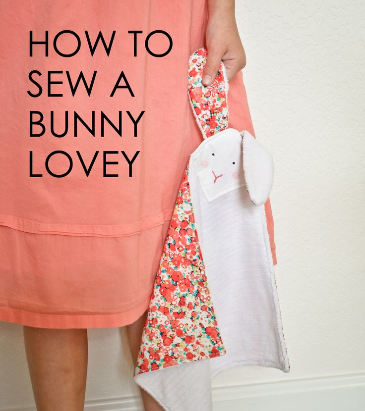 Learn how to create a bunny-lovey blanket with this DIY tutorial from Project Nursery. Use extra-soft and contrasting fabrics to create a small security blanket that gives little ones a sense of comfort.