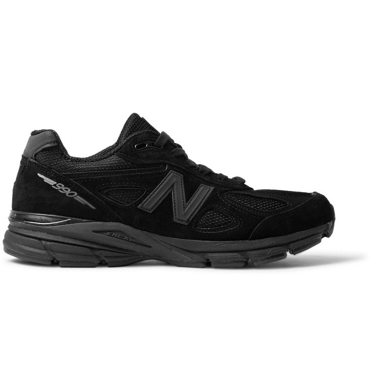 <a href='http://www.mrporter.com/mens/Designers/New_Balance'>New Balance</a> has been producing its '990' sneakers for 30 years, giving the American label plenty of time to perfect the design. Updated with supportive cushioning and ENCAP® midsoles for stability, this all-black 4th-generation rendition is made from lightweight suede and breathable mesh. Though originally created for running, they'll look best paired with slim j...