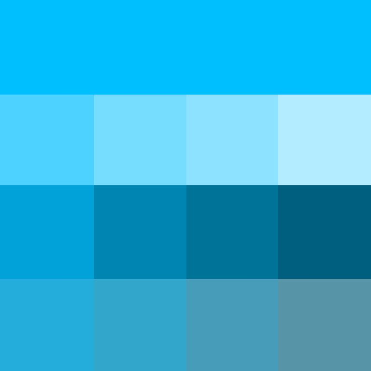 Deep Sky Blue Web Hue Pure Color With Tints Hue