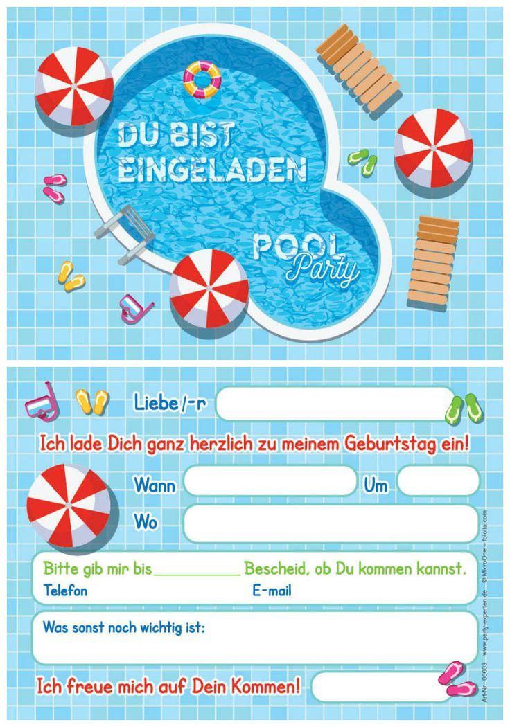 12 Einladungskarten Einladungen Kindergeburtstag Schwimmbad Party Pool Party 12 E Einladung Kindergeburtstag Einladungskarten Kindergeburtstag Kindergeburtstag