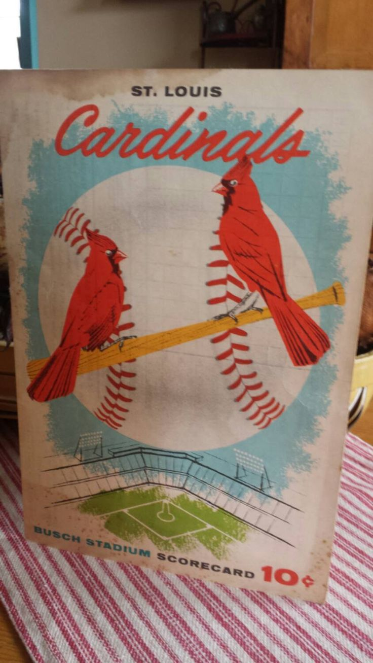 A personal favorite from my Etsy shop https://www.etsy.com/listing/262608514/1957-game-49-st-louis-cardinals