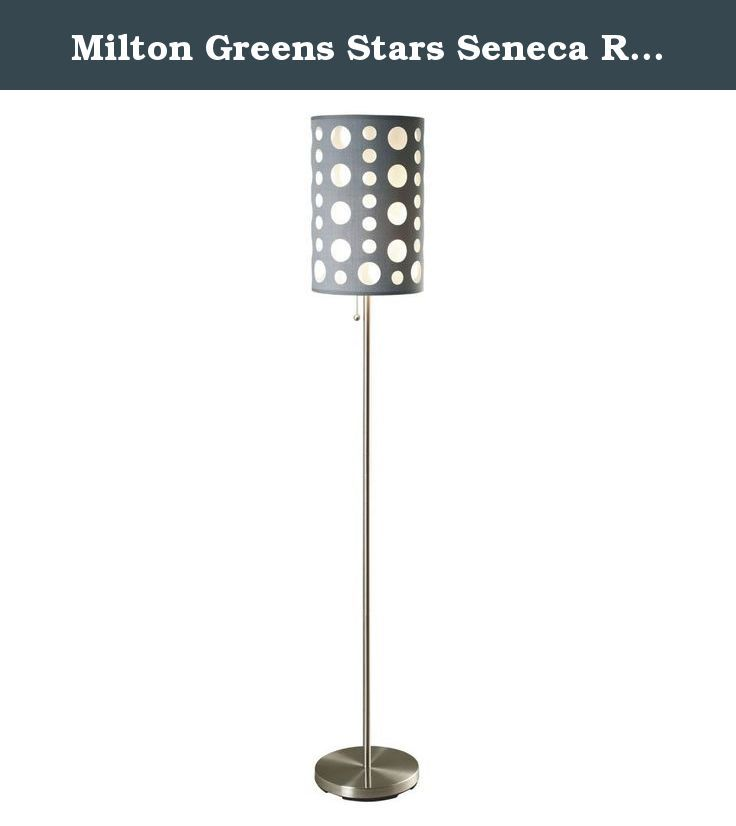 Milton Greens Stars Seneca Retro Floor Lamp, 62-Inch, Gray. If you want modern floor lamp design, look no further than the Seneca retro floor lamp. Designed to be both pleasing to the eye and an homage to 70's living, the Seneca will be a conversation piece in your home for years to come.