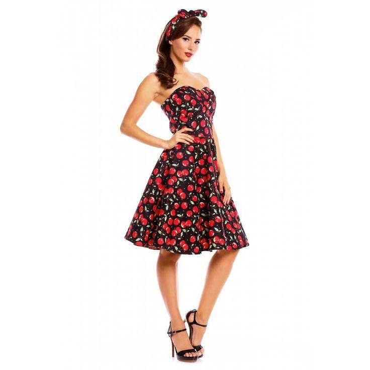 Swing Melissa strapless jurk met kersen