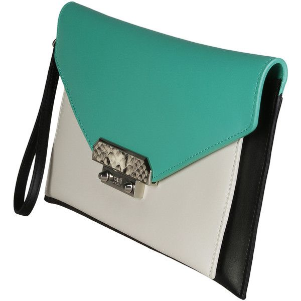 Cavalli Class Green Clutch bags (7,650 INR) ❤ liked on Polyvore featuring bags, handbags, clutches, green handbags, blue clutches, roberto cavalli handbags, blue purse and roberto cavalli purse