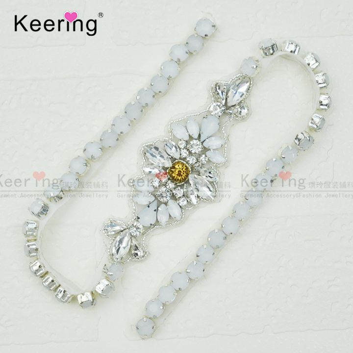 Find More Patches Information about Keering New Arrivals Elegant jelly rhinestone  applique chain belt for wedding ead5debb0272