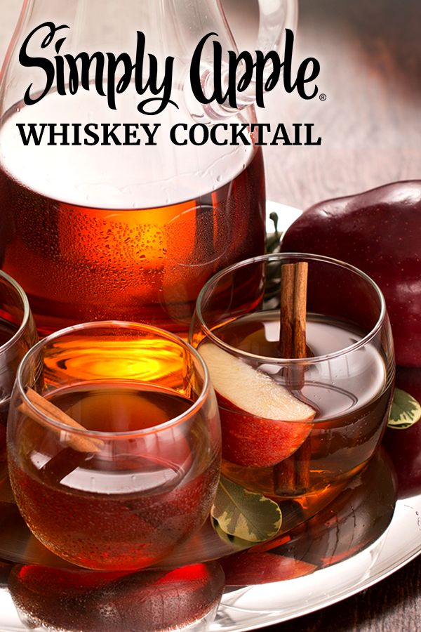 Looking for a signature cocktail to serve this Thanksgiving? Look no further. The peppery bite of cinnamon infused whiskey balances perfectly with the pure-pressed taste of Simply Apple® to create a warm fall cocktail everyone will be thankful for.