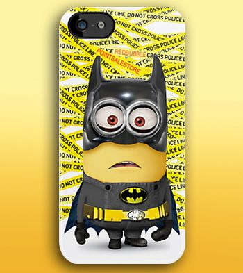 Funny Cute Despicable me minion BATMAN apple iphone 5, iphone 4 4s, iPhone 3Gs, iPod Touch 4g case