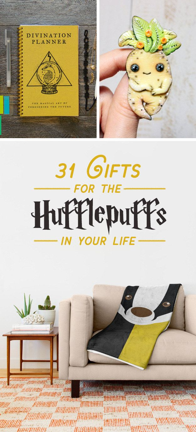 Buzzfeed: Sarah Han. 31 Gifts That Will Make Any Hufflepuff Love You Forever. Bleed black and yellow.  Some of these are precious and I'm just going to leave this here for when I need a smile... or have money.