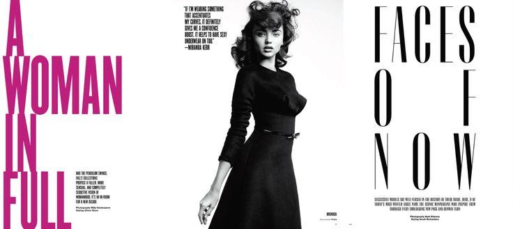 Effective visionaire magazine editorial design