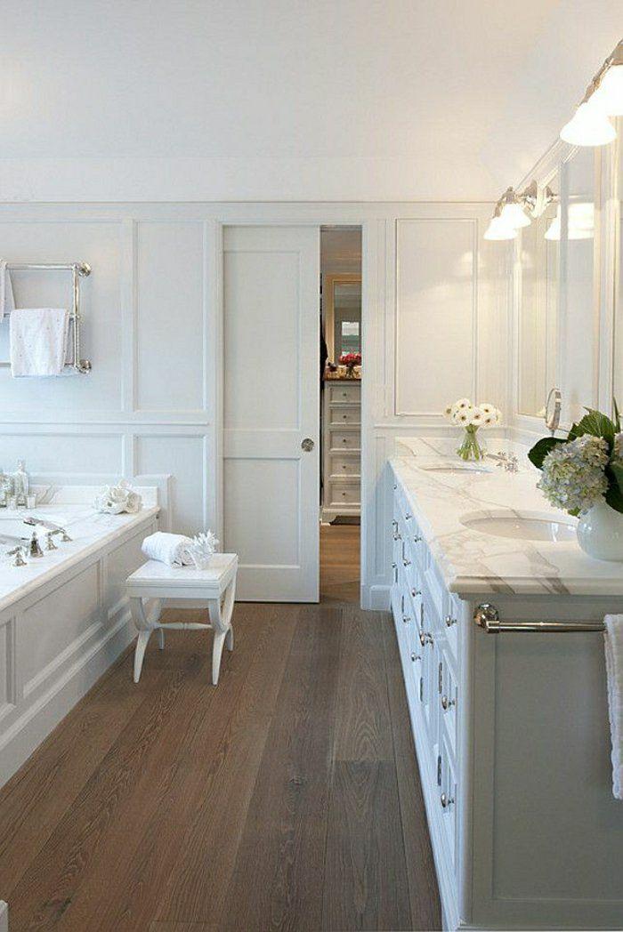 La porte coulissante en 43 variantes magnifiques portes for Meuble salle de bain porte coulissante blanc