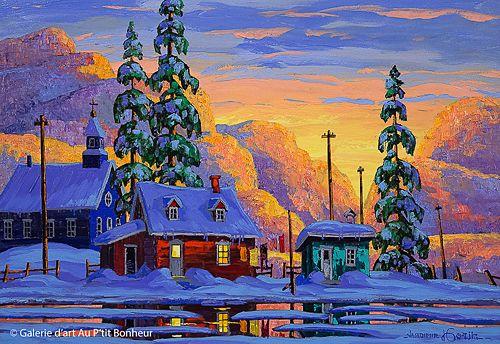 Vladimir Horik, 'Le 5 à 7, fin d'une journée parfaite', 18'' x 26'' | Galerie d'art - Au P'tit Bonheur - Art Gallery