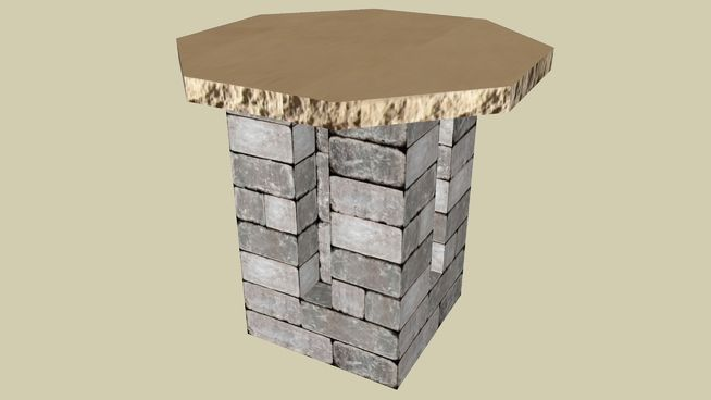Large preview of 3D Model of Bistro Table