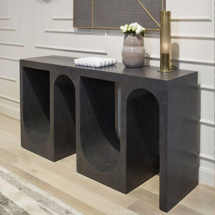 See more @ http://diningandlivingroom.com/stylish-black-consoles-living-room/