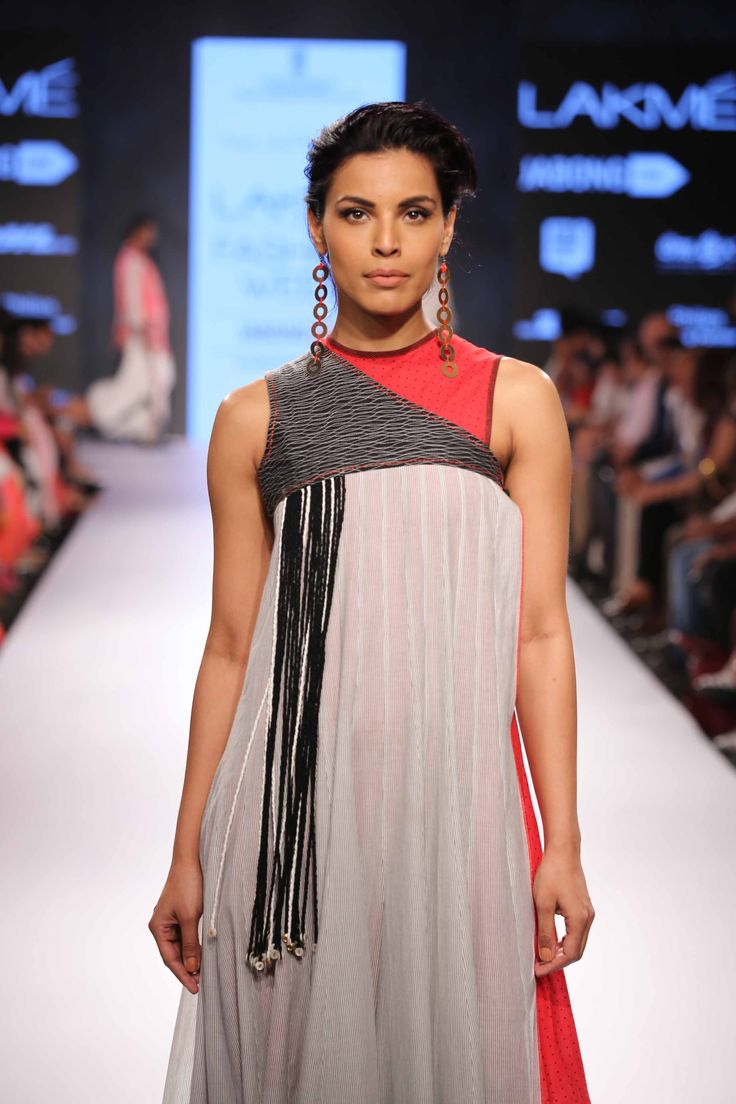 Mayank Anand-Shraddha Nigam showcased an elegant and edgy collection at Lakme Fashion Week Summer Resort 2015! #JabongLFW