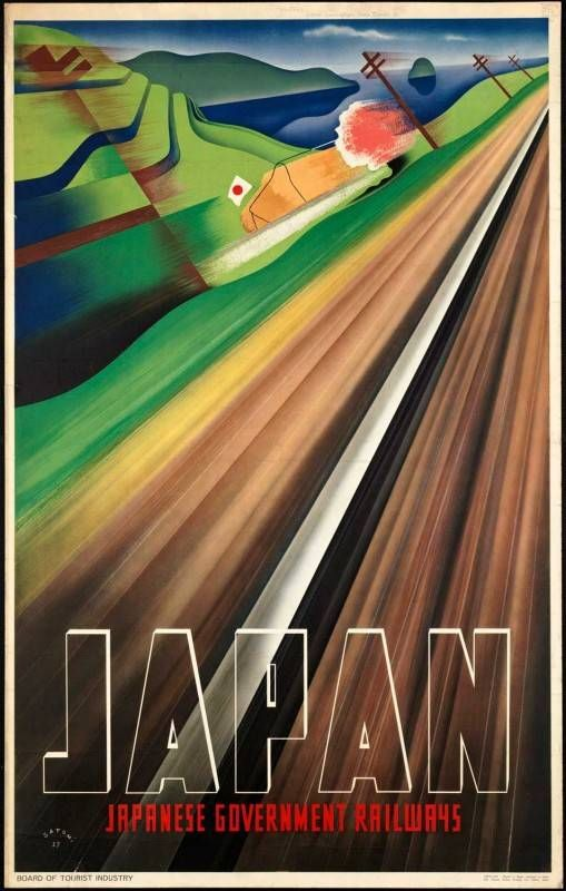 Japan Railways travel poster