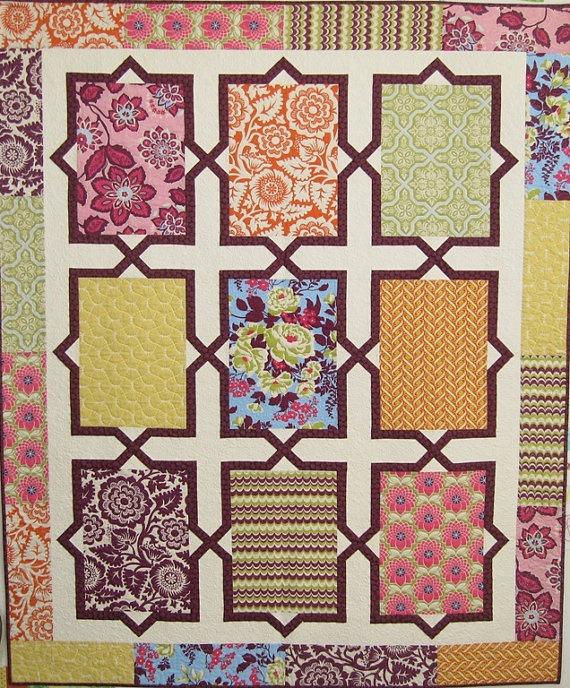 Spanish Tiles Modern Quilt