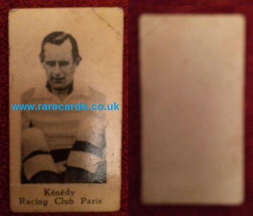 Middlesbrough, Everton, reading FC, Manchester United ... and Paris are among his clubs. 1932 french trade card of Fred Kennedy! https://www.paypal.me/rarecards/219.23