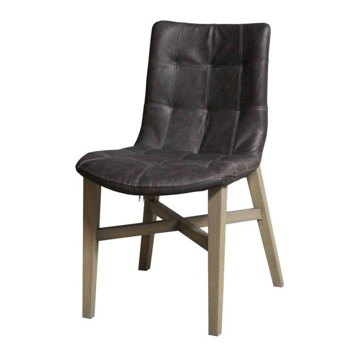 Stoel - Neba | antraciet | vergrijsd eiken poot http://www.demooistemeubelen.nl/a-29825423/eetkamerstoelen/stoel-neba-met-vergrijsde-eiken-poot/