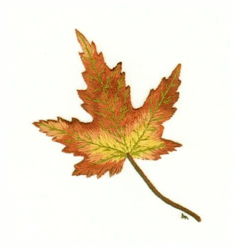 Maple leaf needle painting embroidery kit a hand