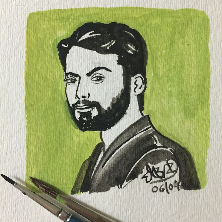 Fawad Khan : Bollywood actor  Watercolour sketch