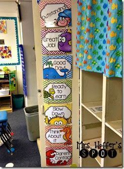 Ocean Themed clip chart, perfect for your ocean themed classroom