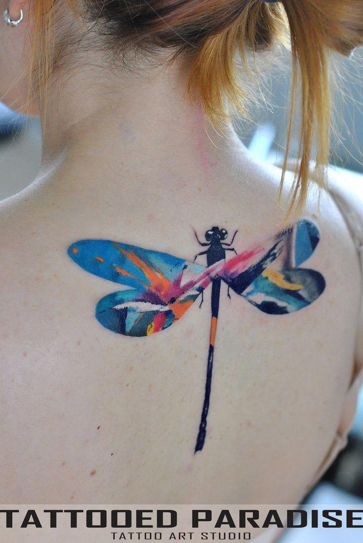 tatt dragonfly by dopeindulgence.deviantart.com on @DeviantArt