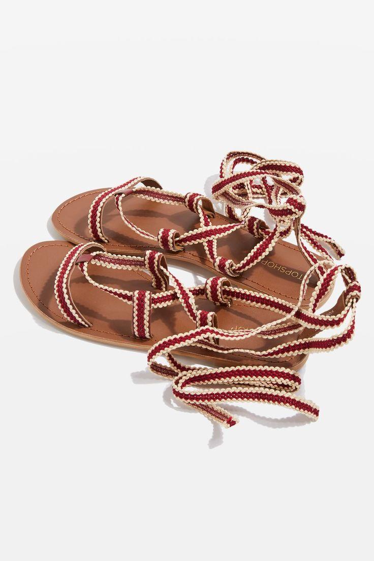 HACIENDA Braided Ribbon Sandals - Topshop