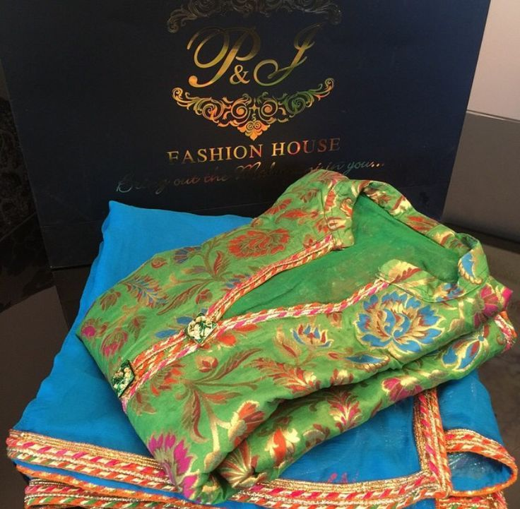 A lovely color combination in the brocade piece by P and J Fashion House. Love brocade fabrics-they do all the work without the fuss of embroidery.: