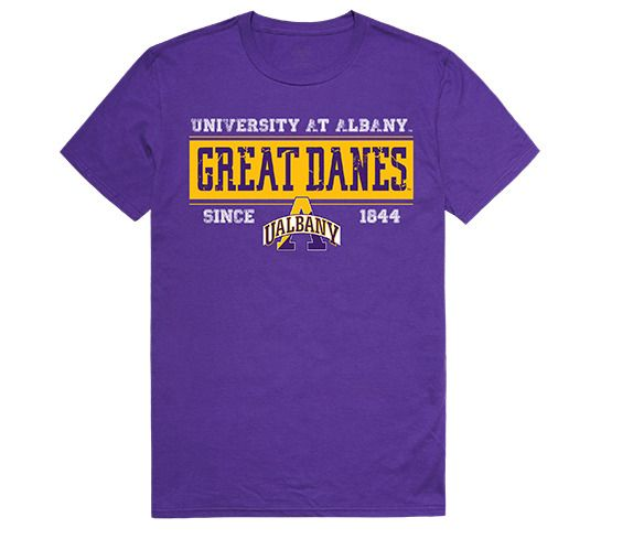 University At Albany Great Danes Ncaa Licensed Purple T Shirt