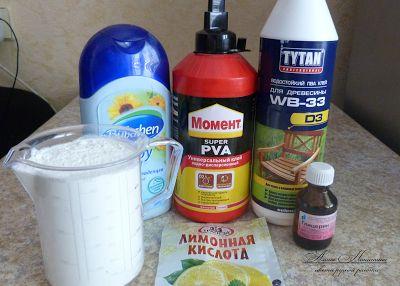 Приготовления холодного фарфора. Мастер класс Алины Никитиной