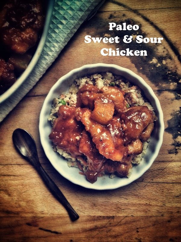 Paleo Sweet and Sour Chicken. (Gluten/Grain/Dairy/Soy Free) sub ketchup and coconut sugar somehow?