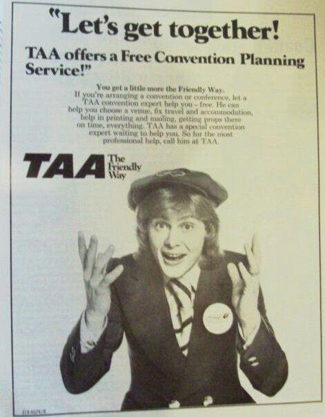 TAA, 1974 Advert featuring John Farnham (Whispering Jack) Awesome Australian Singer Entertainer