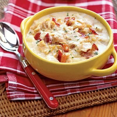 Creamy Clam Chowder. Perfect for a summer get-together!