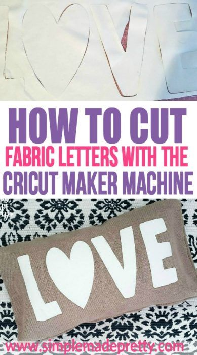 # 5minutecraft mit Cricut Maker Projects: Schneiden von Stoffbriefen mit Cricut! di …   – Cricut Machine Crafts | Inspiration + DIY Ideas for your Cricut Crafting