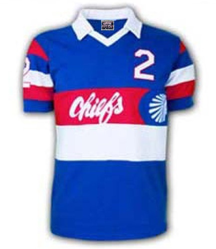 Atlanta Chiefs 1981 Classic soccer jersey. The Chiefs of the NASL has some cooling-looking kits. My high school soccer coach got a game-worn jersey at one game at Atl.-Fulton County Stadium.
