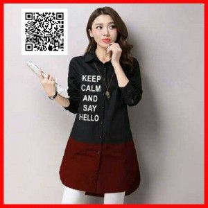 hem wanita long keep calm MTFM21