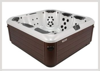 Bullfrog A7L The A7L is a well proportioned mid-size spa that provides a perfect combination of massage types in several of the most comfortable spa seats available in any mid-size hot tub.  The A7L also includes a premium bent-knee lounger with hip, calf, and foot jets that combine with the JetPak of your choice to create a blissful full body relaxation experience. #WheatlandFireplace #BullfrogSpas