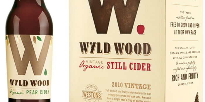 "Wyld Wood Cider. Can't decide if I'm super excited about the bottle shape or not, but I do like the bold, iconic ""W"""