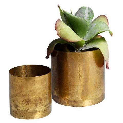 Raw Brass Flower Pots               | KOPERHUIS