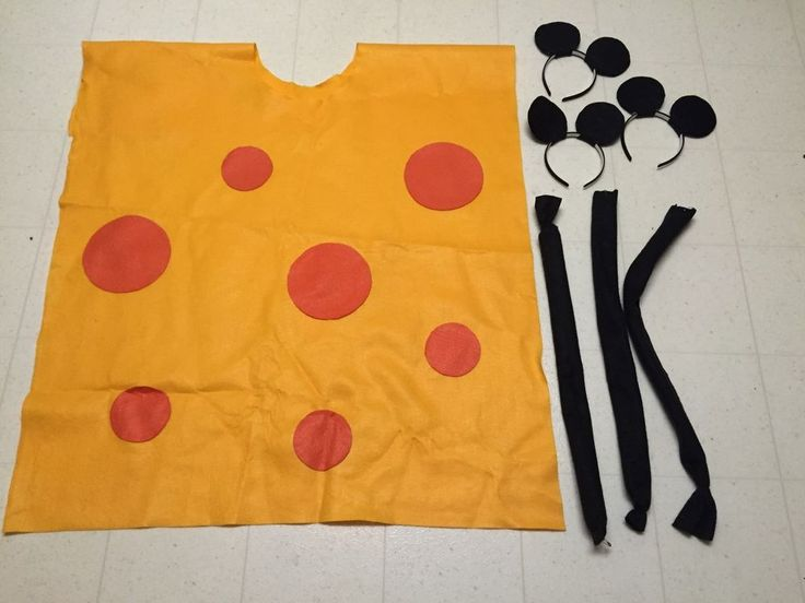 Big Cheese w/ Mouse Ears Halloween Group Costume Costumes HandMade unique #handmade